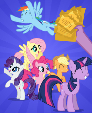 37195_-_applejack_discover_the_difference_fluttershy_pinkie_pie_rainbow_dash_rarity_screencap_spike_ticket_tickets_twilight_sparkle