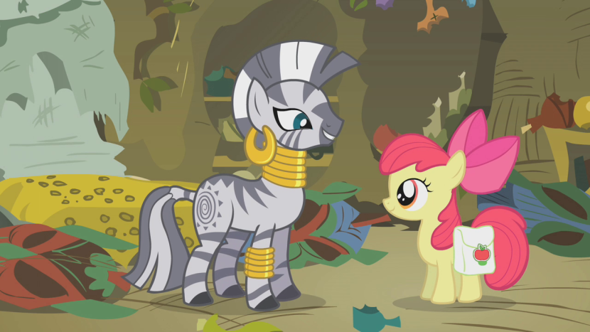 Zecora and Apple Bloom