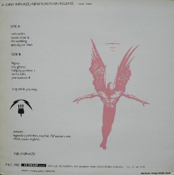 The back cover of the 1982 original issue on In Phaze/New European Records.