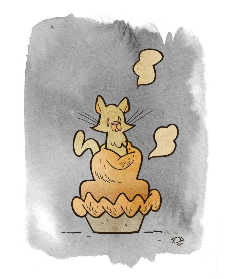 A kitten pie by Calamity Jon Morris