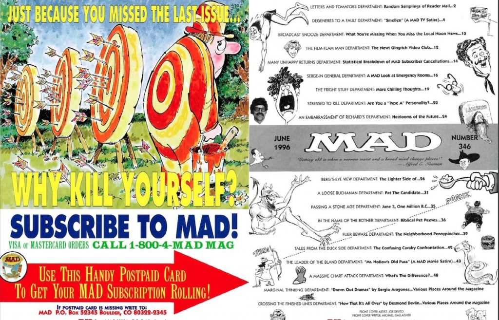 MAD #346 front cover spread
