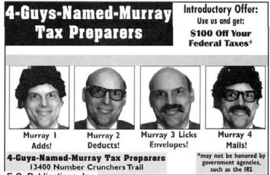 Mad #346 4 guys named murray