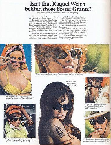 Foster Grants Raquel Welch ad