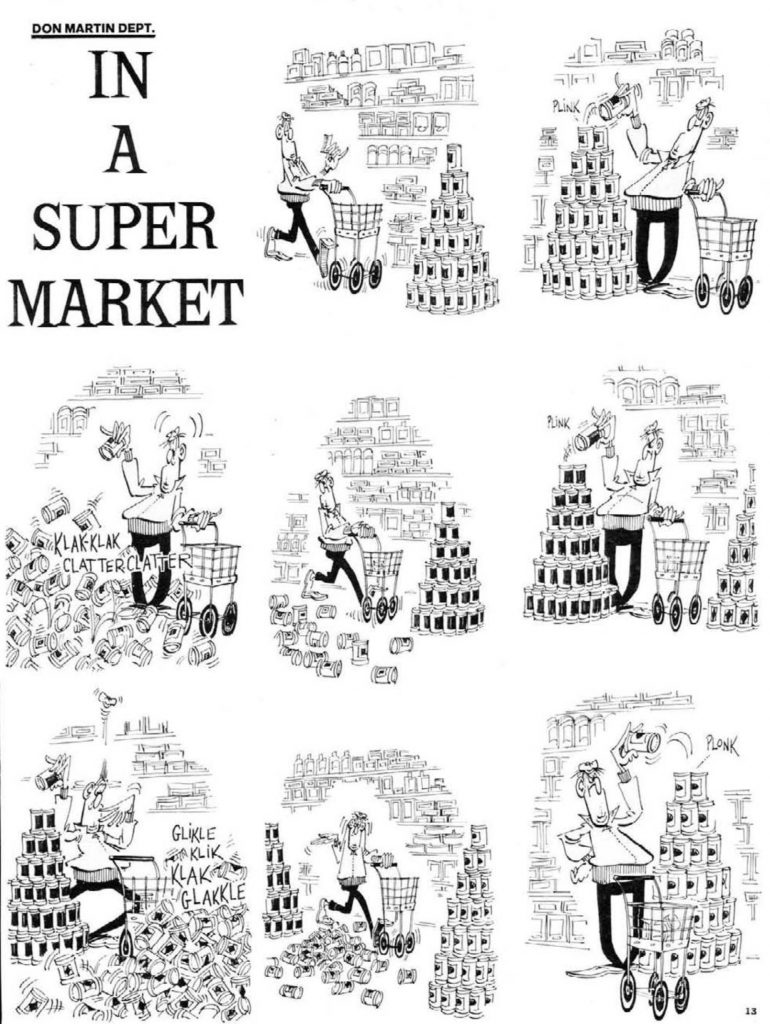MAD #115 don martin in a supermarket page 1