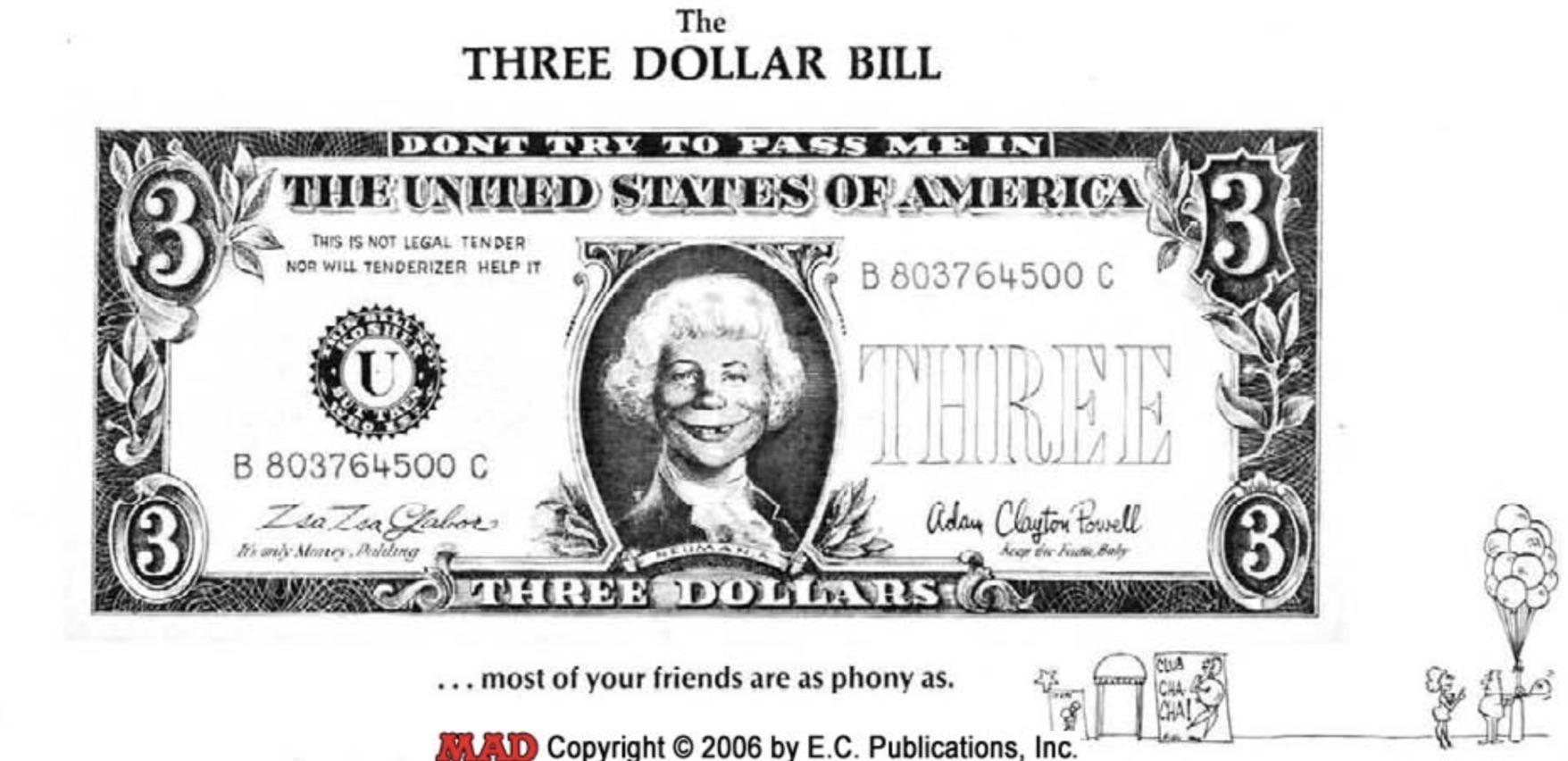 Mad 115 Three Dollar Bill Kittysneezes